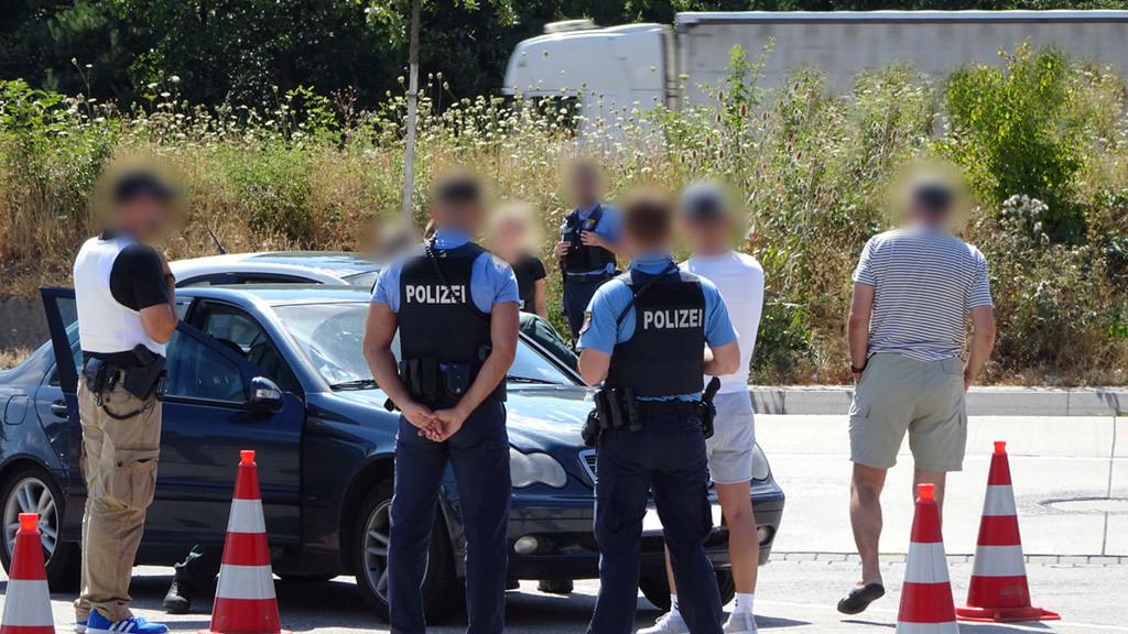 Polizeikontrolle Autobahn