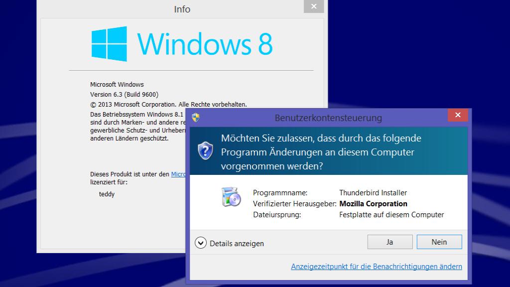 UAC-Prompts: Windows 8.1 ist einziges sicheres System mit UAC-Animation