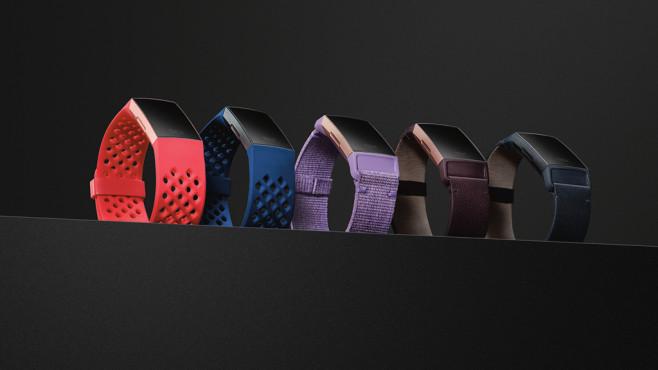 Fitbit Charge 3: Verschiedenfarbige Armbänder©Fitbit