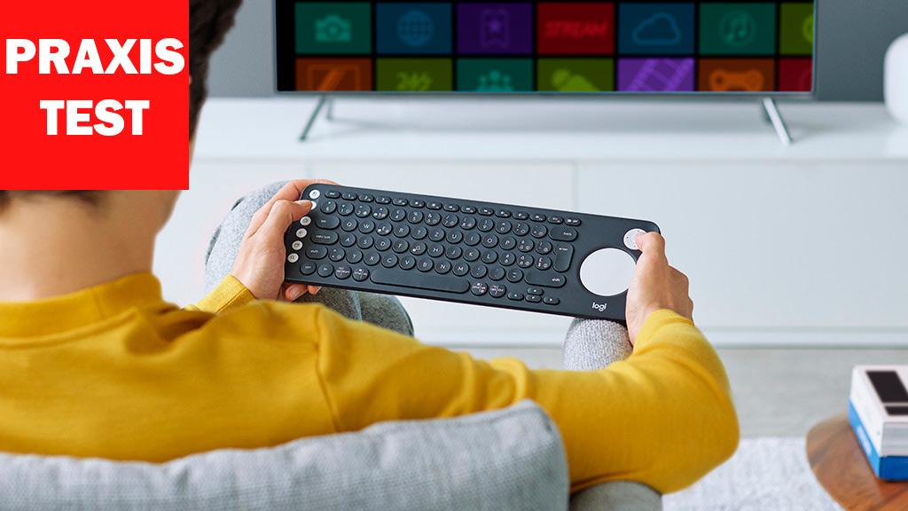 logitech k600 tv tastatur im praxis test computer bild. Black Bedroom Furniture Sets. Home Design Ideas