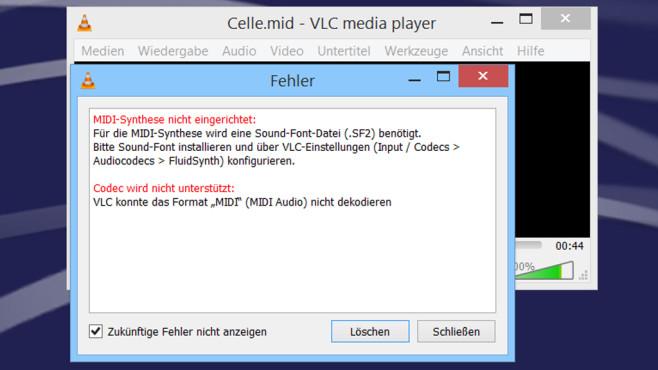 VLC Media Player: MIDI-Dateien abspielen – Funktion nachrüsten©COMPUTER BILD