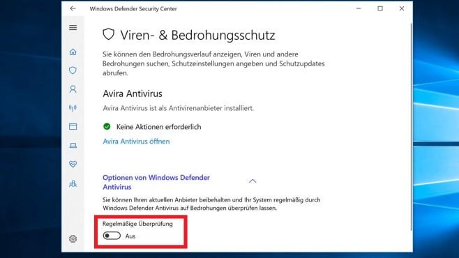 Windows Defender als Zweit-Scanner ©COMPUTER BILD
