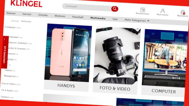 Gutscheinaktion im Klingel-Onlineshop©PR/Screenshot www.klingel.de