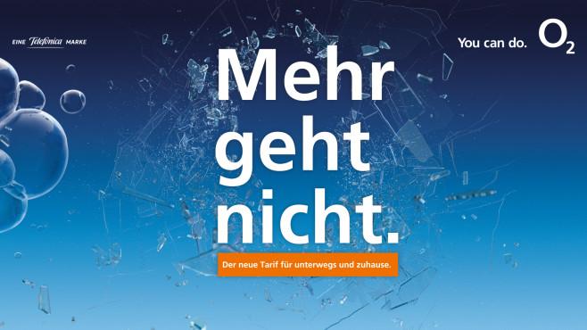 """O2 Free Unlimited: Slogan """"Mehr geht nicht""""©Telefonica"""