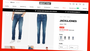 Jeans Sale bei About You © PR/Screenshot www.aboutyou.de