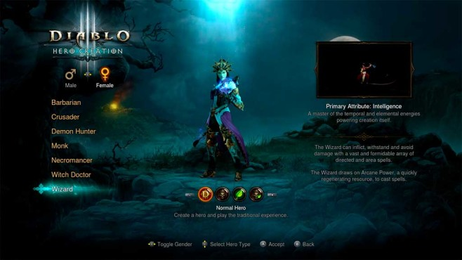 Diablo 3 – The Eternal Collection: Charakterwahl © Blizzard