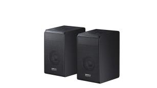 Samsung HW-N950 im Test: Schlanke Soundbars mit sattem Klang Zur Samsung HW-N950 gehören zwei Extra-Boxen.©Samsung