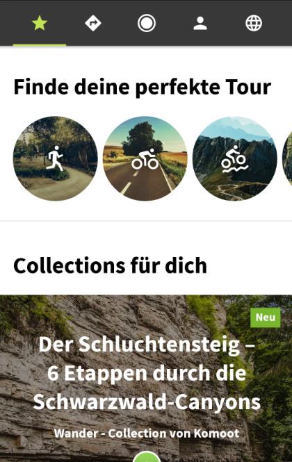 Screenshot 1 - Komoot: Navi für Fahrrad, Wandern & Mountainbike (Android-App)