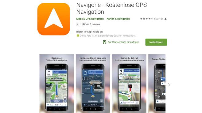 Navigone©Navigone, Google Play Store