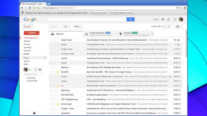 Gmail ©COMPUTER BILD, Google