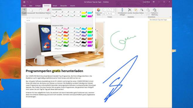 Microsoft OneNote Free ©COMPUTER BILD, Microsoft