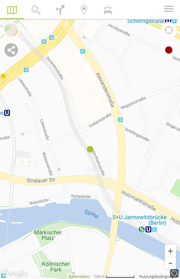Screenshot 1 - Falk Maps: Routenplaner & Karte (App für iPhone & iPad)