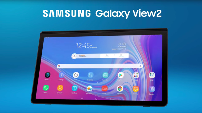Galaxy View 2 © Samsung / AT&T / YouTube