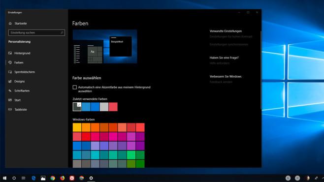 Windows 10: Dark Mode ©COMPUTER BILD