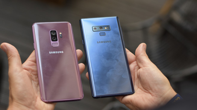 Das Galaxy-Duell: Samsung Galaxy Note 9 vs. S9 Plus © COMPUTER BILD