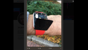 Apple-Watch-Display löst sich ab © Screenshot via Twitter Tom Warren @tomwarren