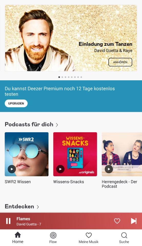 Screenshot 1 - Deezer Music (Android-App)