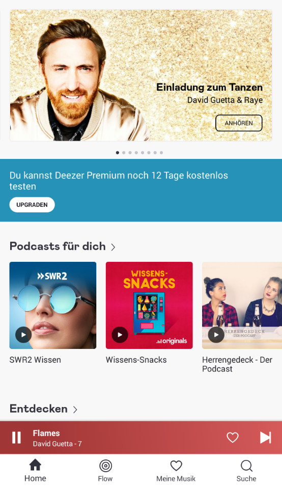 Screenshot 1 - Deezer Music (App für iPhone & iPad)