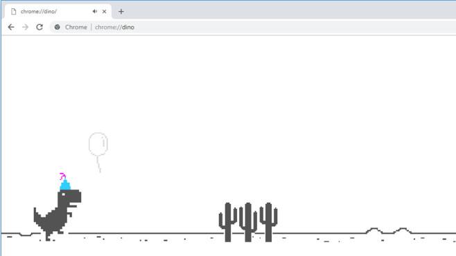 Google Chrome 69: Dinospiel©Google