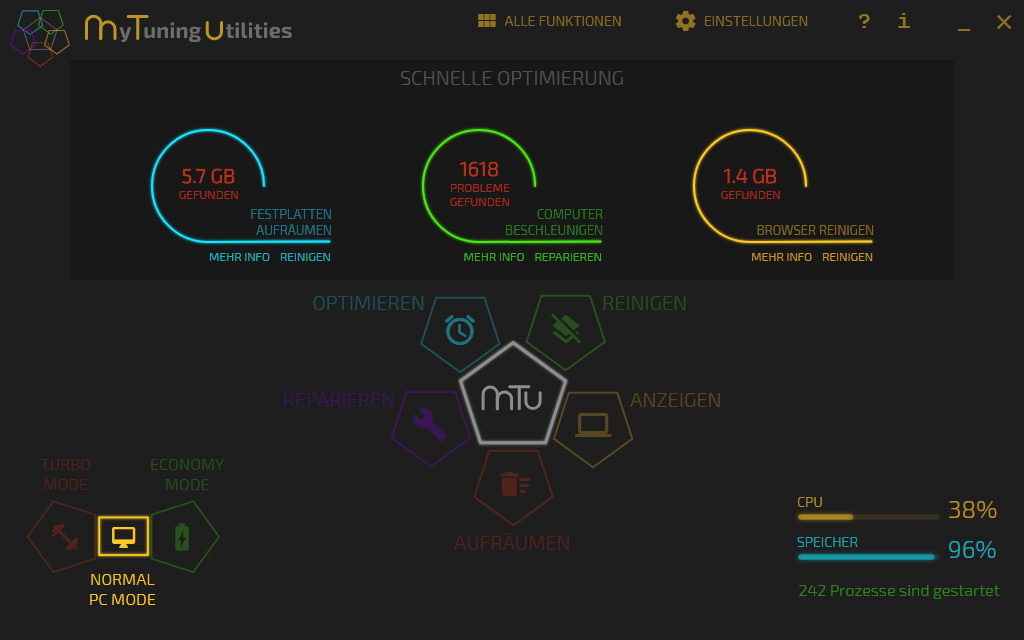 Screenshot 1 - Mytuning Utilities