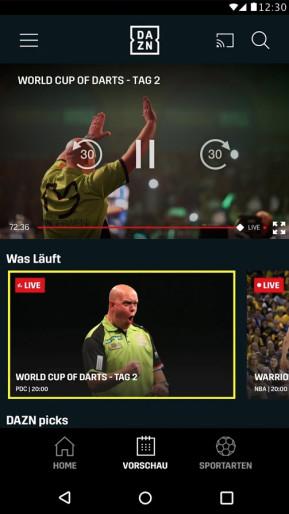 DAZN: Sport & Fußball Live Stream (Android-App)