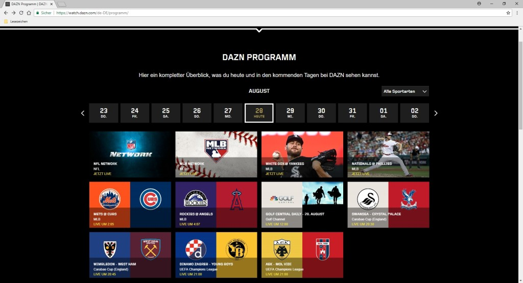 Screenshot 1 - DAZN: Sport Live Streaming