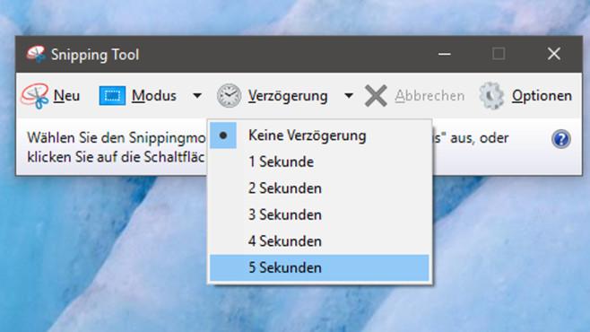 Windows verlangsamen: So drosseln Sie es – und das bringt es 5, 4, 3, 2,1 – per Menü schießt Windows 10 verzögert Screenshots.©COMPUTER BILD
