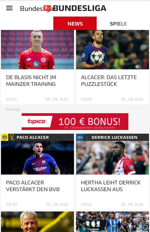 Screenshot 1 - Bundesliga (Android-App)
