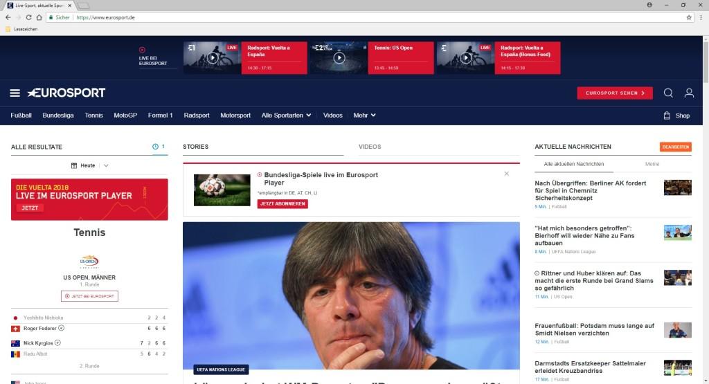 Screenshot 1 - Eurosport
