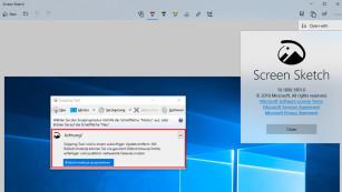 """Snipping Tool wird eingestellt: Screenshot-Tools für Windows Mit einem künftigen Update entfernt Microsoft das """"Snipping Tool"""" aus Windows 10. Als Ersatz bietet der Hersteller die Windows-App """"Bildschirmskizze"""" (Screen Sketch) an.©COMPUTER BILD"""