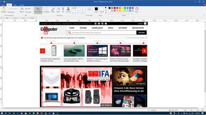 Snipping Tool wird eingestellt: Screenshot-Tools für Windows Nein, dass ist nicht Microsoft Word was Sie hier sehen, sondern das Screenshot-Programm PicPick!©COMPUTER BILD