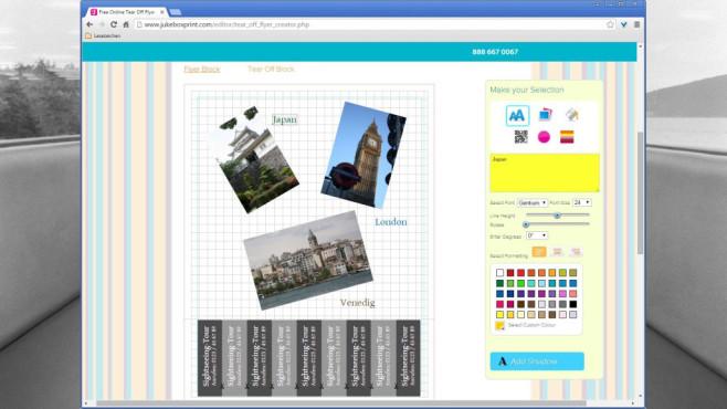 Abreißzettel kostenlos erstellen ©COMPUTER BILD, Jukebox Print