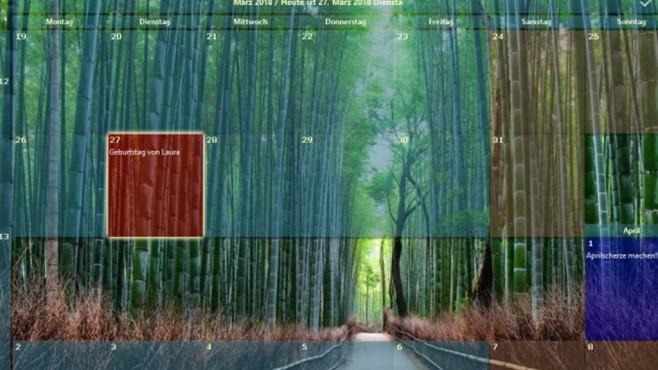 Desktop-Kalender (Desktop-Calendar) und Outlook on the Desktop ©COMPUTER BILD