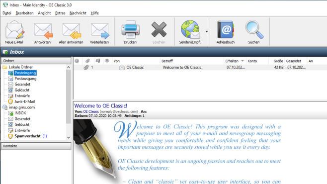 OE Classic (Outlook Express) ©COMPUTER BILD