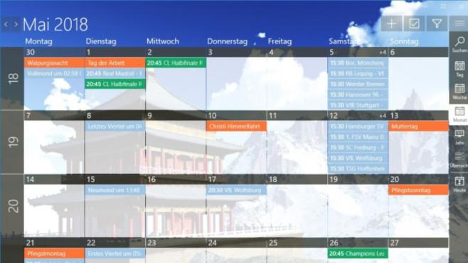One Calendar (Windows-10-App) ©COMPUTER BILD