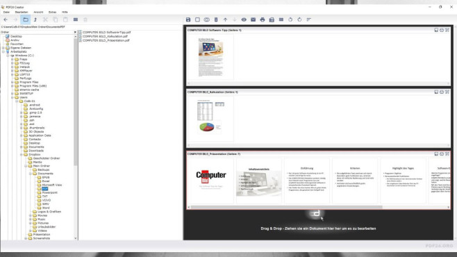 PDF24 Creator ©COMPUTER BILD, Geek Software