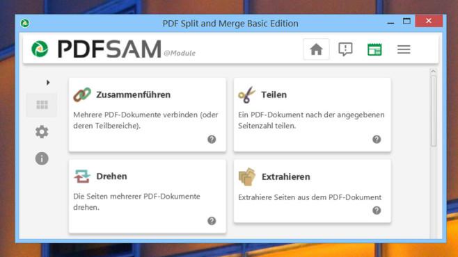 PDFsam (PDF Split and Merge) ©COMPUTER BILD