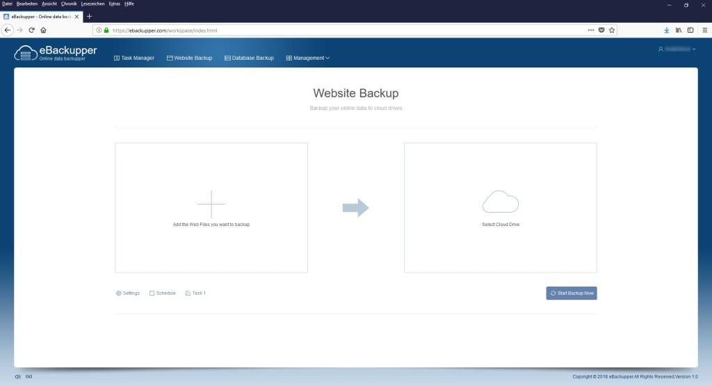 Screenshot 1 - Aomei eBackupper
