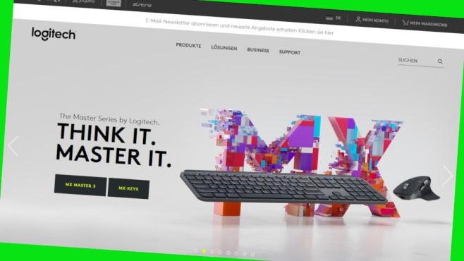 Online-Gutschein: 10 Prozent Rabatt bei Logitech©Screenshot www.logitech.com