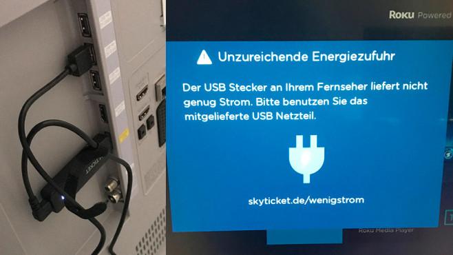 Sky Ticket TV-Stick – wenig Strom©COMPUTER BILD