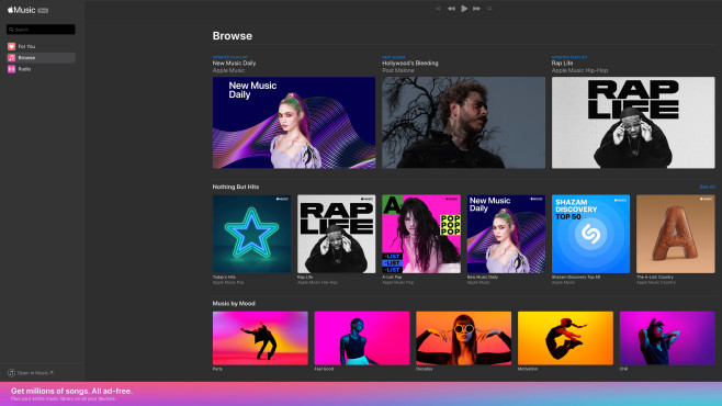 Apple Music: Browser-Version © Apple