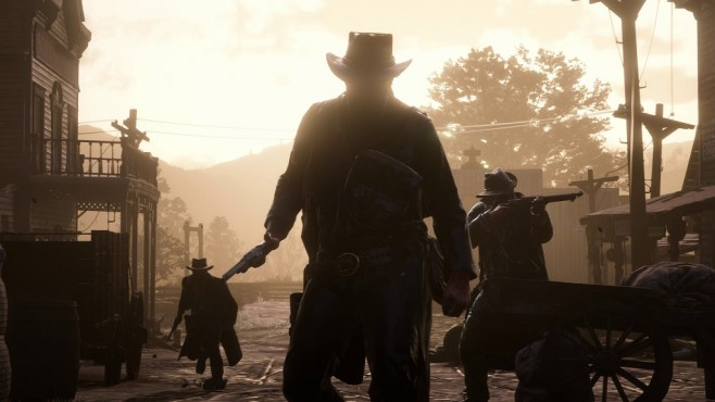 Red Dead Redemption 2 Outlaws im Gegenlicht © Rockstar Games