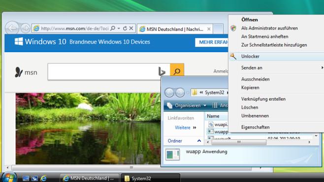 Windows 10: Unlocker löscht wuapp-Datei©COMPUTER BILD