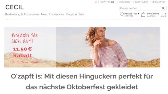 uk billig verkaufen Schuhe für billige attraktive Farbe Cecil-Gutschein: Wiesn-Outfits jetzt günstiger - COMPUTER BILD