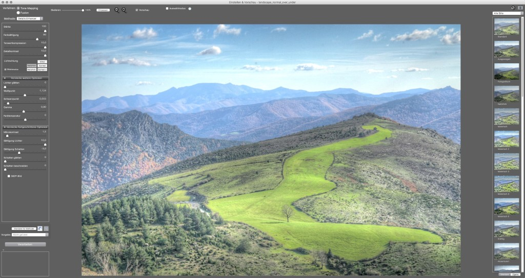 Screenshot 1 - Photomatix Pro (Mac)