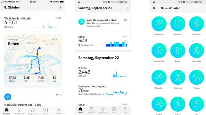 Health Mate App©Screenshot Health Mate App / COMPUTER BILD