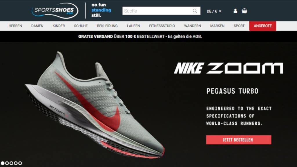 Sportsshoes.de: Alle Gutscheine aus dem Sneaker-Shop