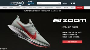 Rabatte bei Sportsshoes©Screenshot www.sportsshoes.de