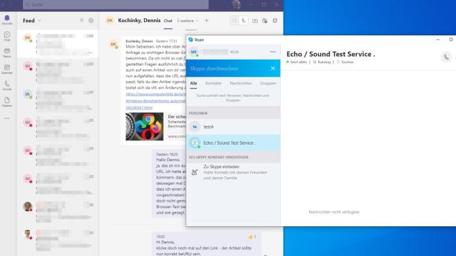 Die 100 besten Microsoft-Programme: Kostenlos zum Herunterladen Mit Skype und Teams plaudern Sie via Tastatur und Mikrofon sowie eventuell per Webcam online.©COMPUTER BILD