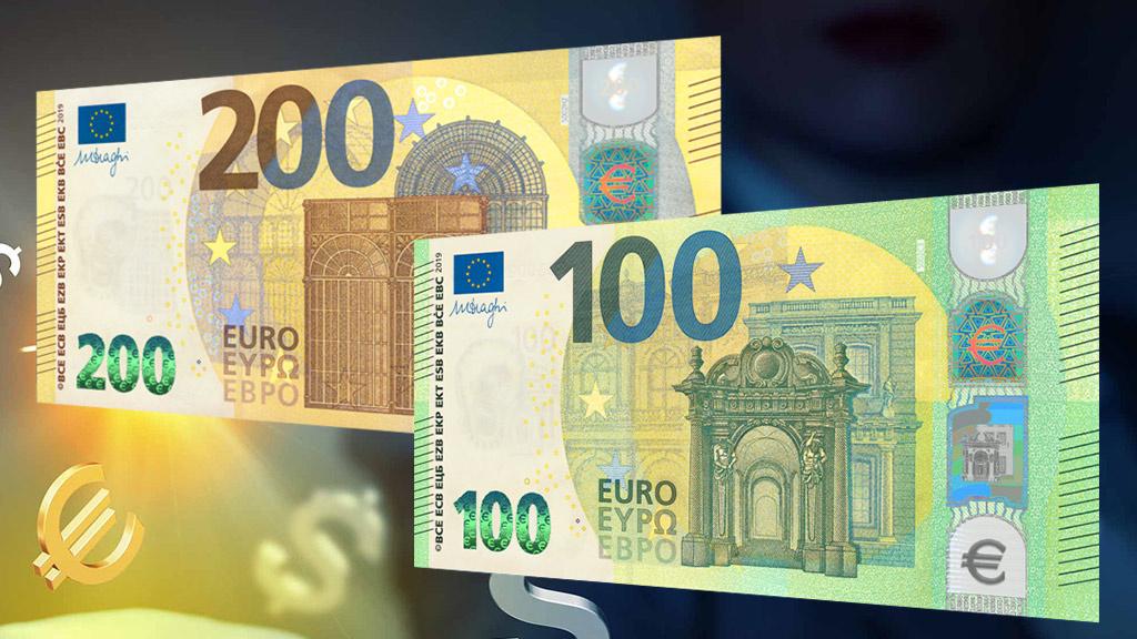 neuer 100 euro schein 200 euro schein sie sind da. Black Bedroom Furniture Sets. Home Design Ideas